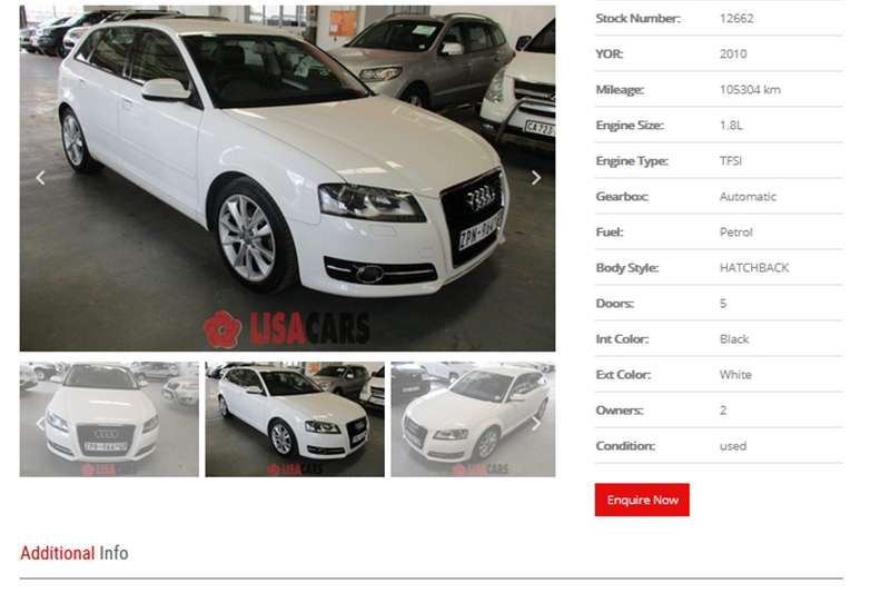 Audi A3 1.4T Attraction 2013