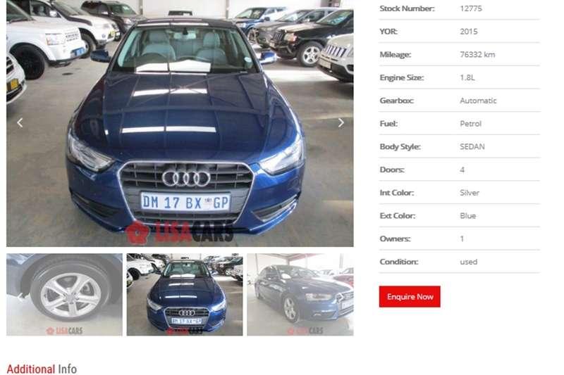 Audi A4 1.8T Multitronic 2015