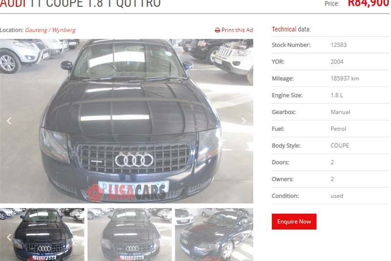 Audi TT Coupe TT RS QUATTRO COUPE STRONIC 2004