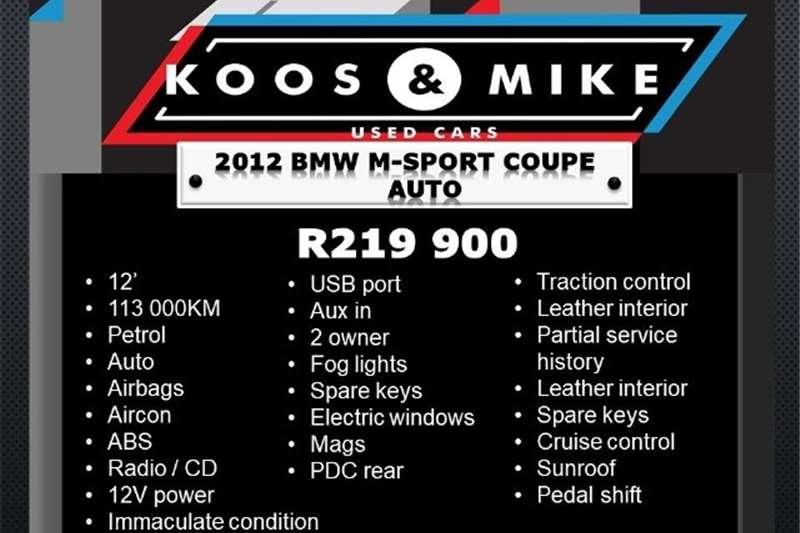 2012 BMW 1 Series 125i coupé M Sport steptronic