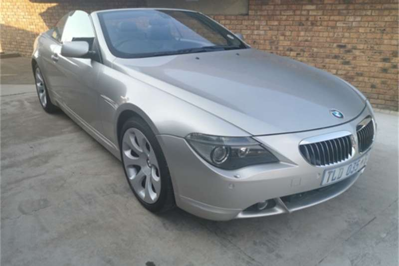 BMW 6 Series 650i convertible steptronic 2006