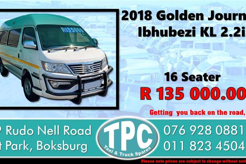 Used 2018 Golden Journey Ibhubezi