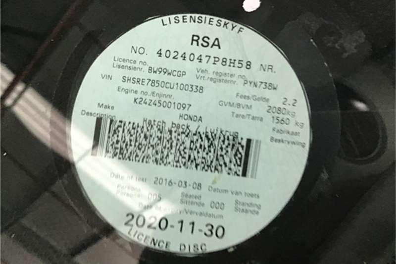 Honda CR-V 2.4 Elegance AWD 2012