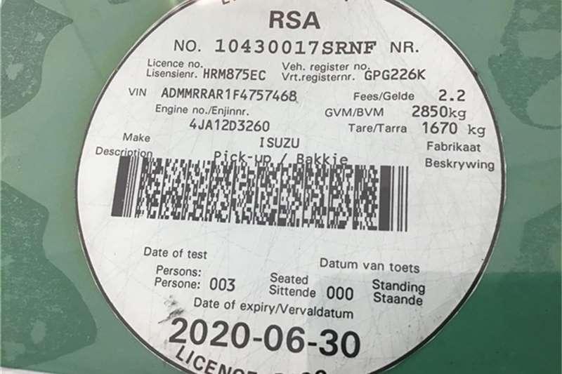 Isuzu KB 250D-Teq Fleetside (safety pack) 2016
