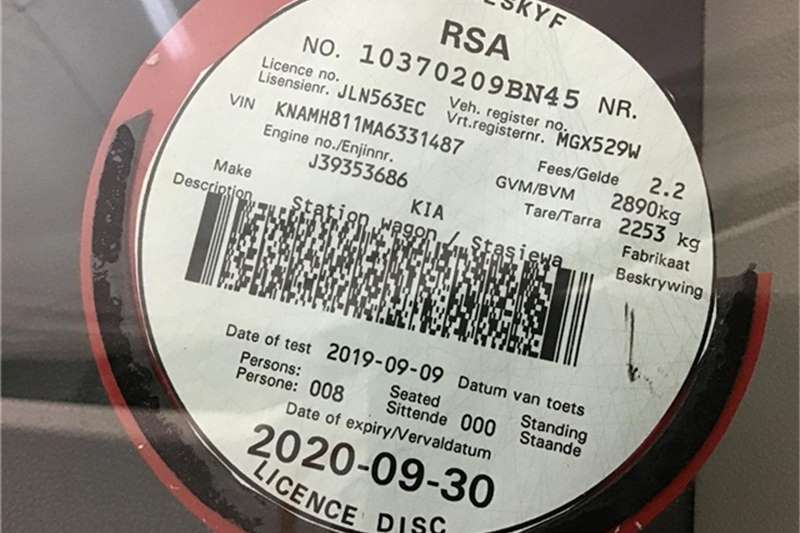 Kia Sedona 2.9CRDi EX automatic 2010