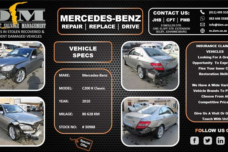 Used 2010 Mercedes Benz C Class