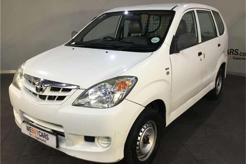 2011 Toyota Avanza 1.3 S panel van