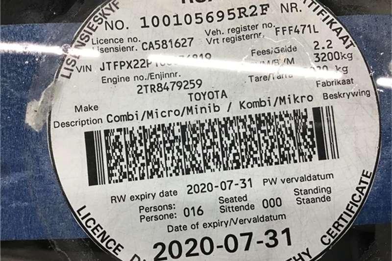 Toyota Quantum 2.7 Ses''''''''fikile 2013