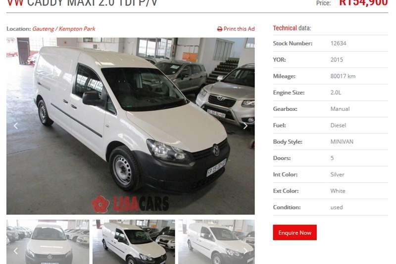 VW Caddy Maxi Panel Van 2015