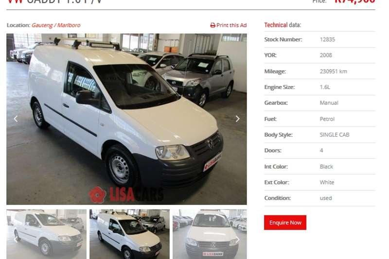 VW Caddy Panel Van CADDY 1.6i (81KW) F/C P/V 2008