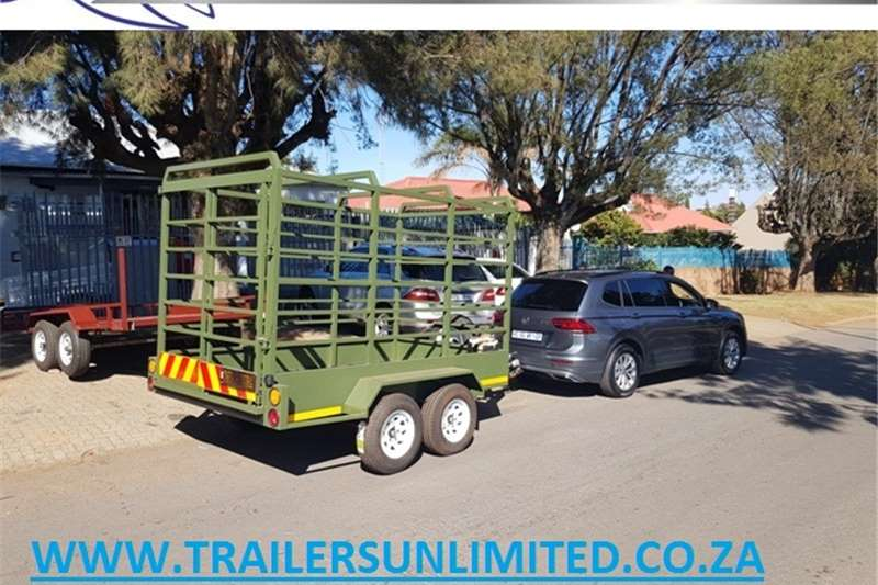Agricultural trailers 3000 X 1700 X 1800 CATTLE TRAILER. DOUBLE AXLE.