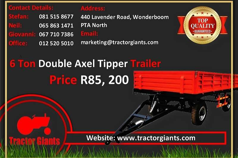 Carts and wagons 6 TON DOUBLE AXSEL TRAILER Agricultural trailers