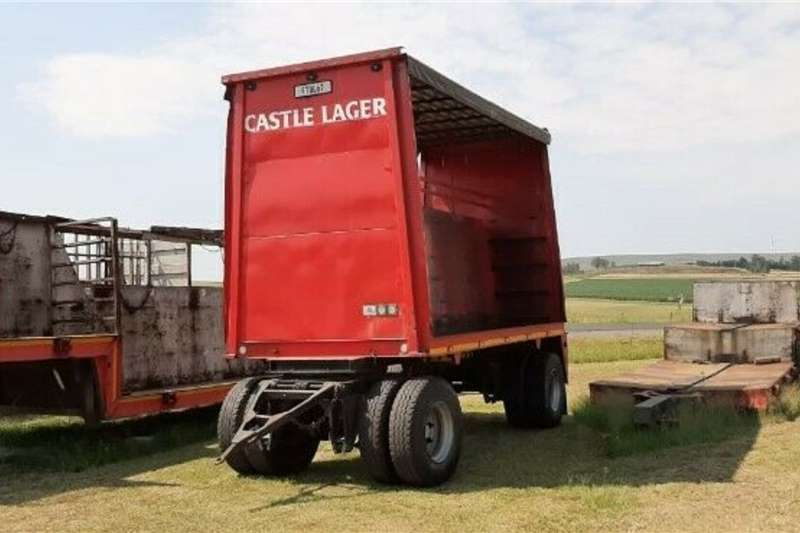 Agricultural trailers Carts and wagons Double Axle Tautliner Beverage Trailer