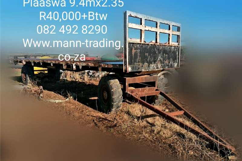 Carts and wagons Farm Trailer 9.4m x 2.35m Agricultural trailers