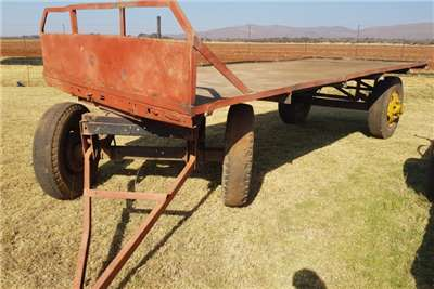 Carts and wagons red 4 wheel trailer Agricultural trailers