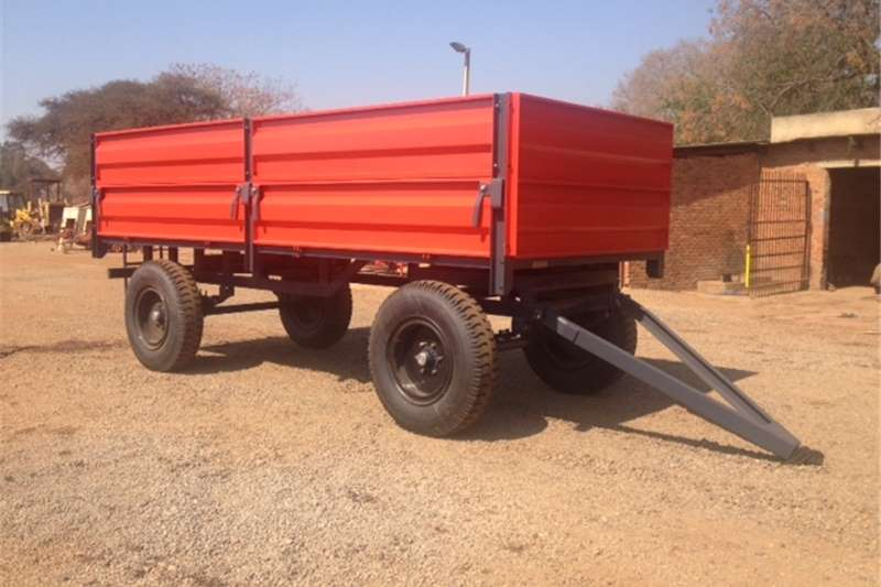 Agricultural trailers Carts and wagons Red Verrigter 10 Ton Bulk Trailer