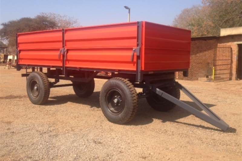 Agricultural trailers Carts and wagons S3279 Red Verrigter 10 Ton Bulk Trailer / 10 Ton M