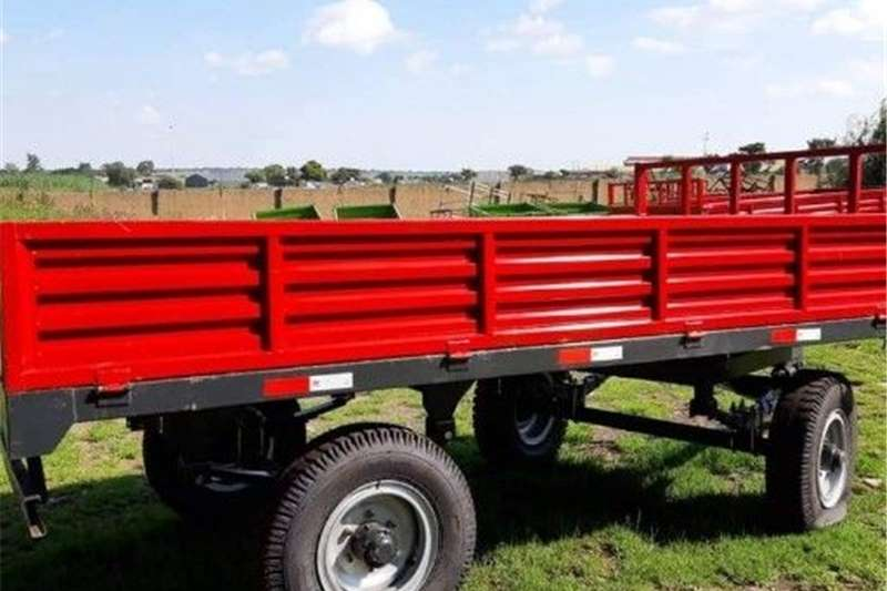 Dropside trailers 6 ton double axle trailer Agricultural trailers