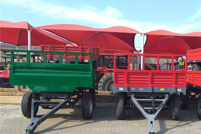 Agricultural trailers Dropside trailers New 6 Ton double axle non tipper trailer