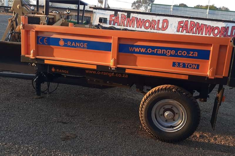 Dropside trailers Orange 3.5 Ton Trailer New Trailer Agricultural trailers
