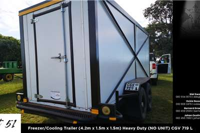 Freezer trailers Freezer/Cooling Trailer (4.2m x 1.5m x 1.5m) Heavy Agricultural trailers
