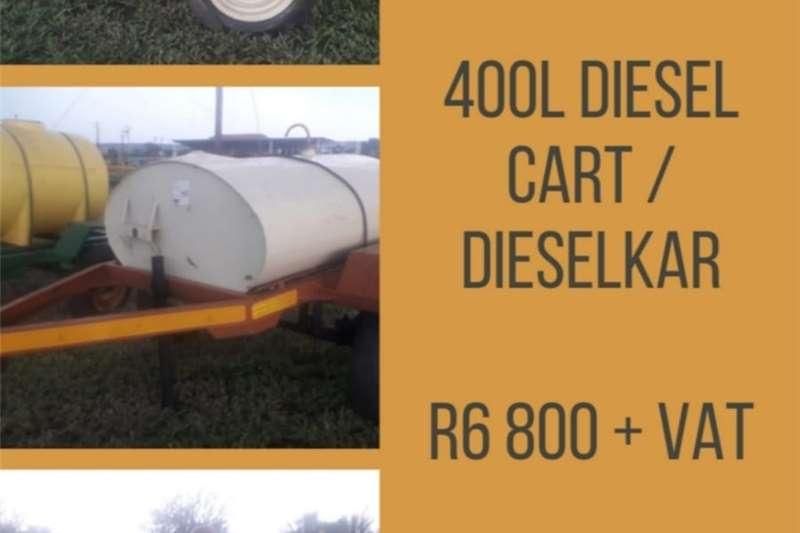 Fuel bowsers 400l DIESEL CART / DIESELKAR Agricultural trailers