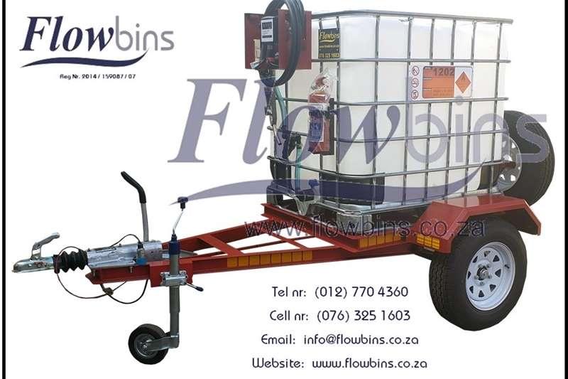 Agricultural trailers Fuel bowsers NEW 1000Lt   3000Lt Flowbin Diesel Bowser Trailers