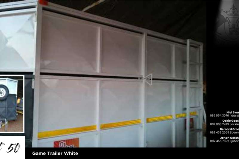 Game trailers Game Trailer White Agricultural trailers