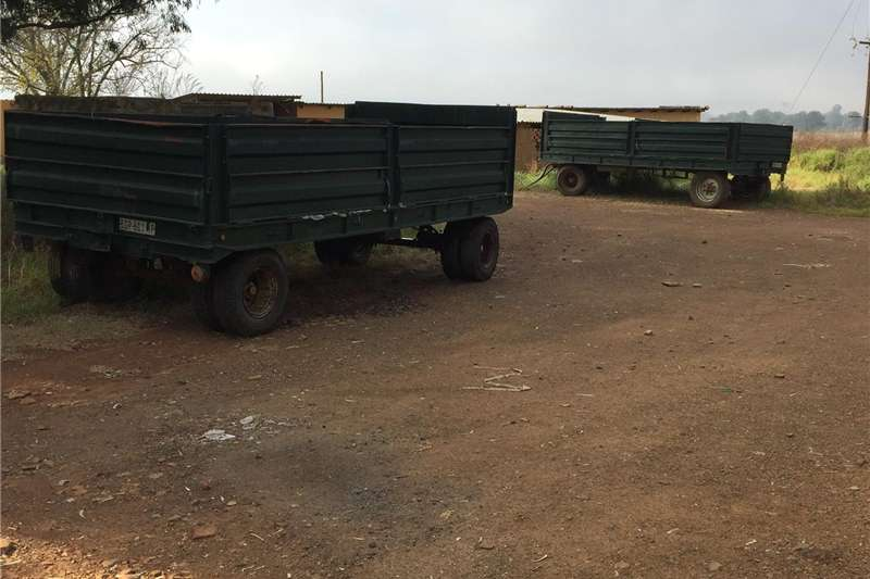 Agricultural trailers Grain trailers Heavy duty grain trailor 12 t X 2