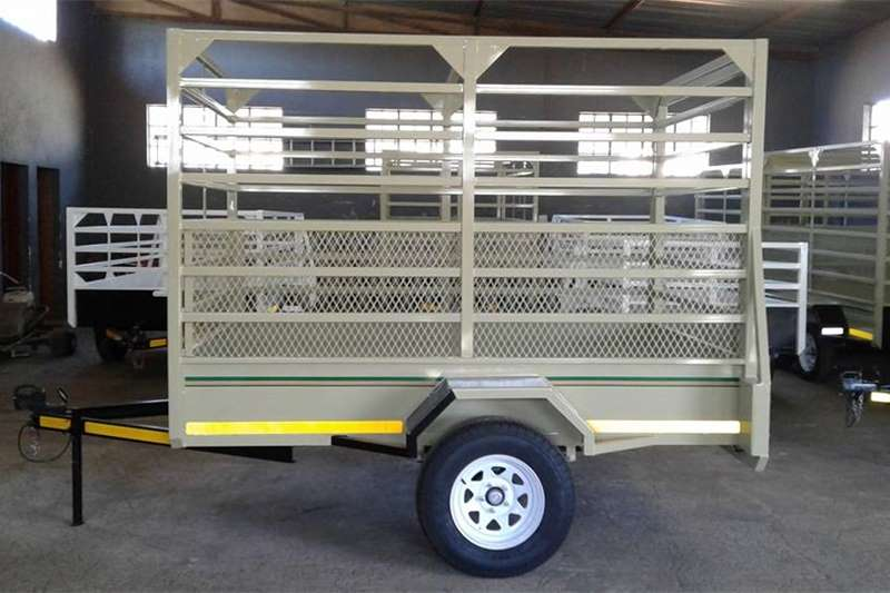 Livestock trailers 2.450m single axle Cattle trailers for sale Agricultural trailers