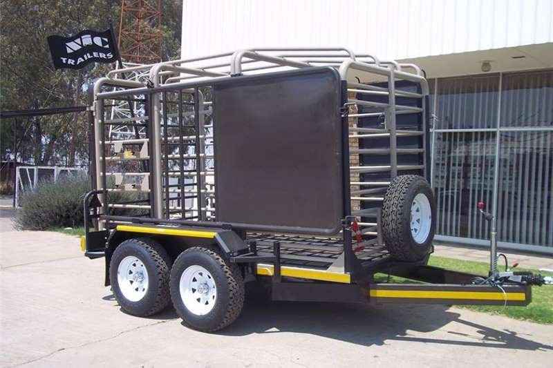 Agricultural trailers Livestock trailers 3.0M Sheep / Cattle   Double Deck TRAILER WITH RAI