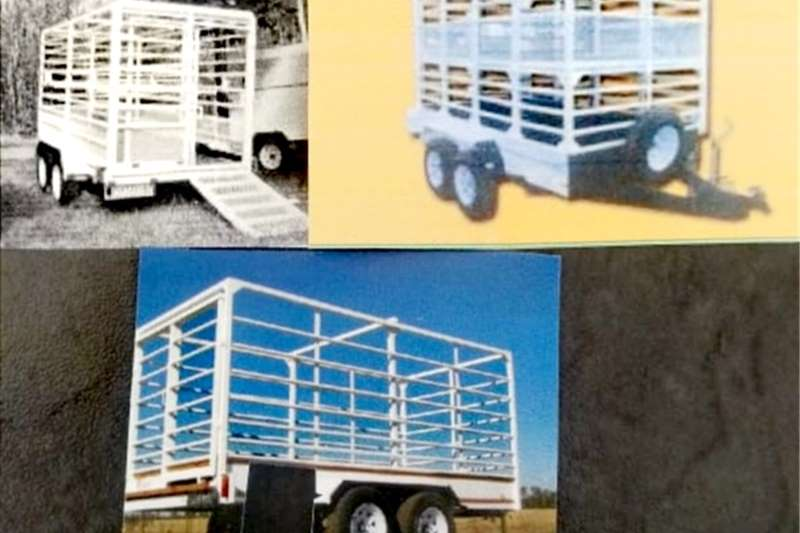Livestock trailers 3 TON DOUBLE AXLE CATTLE TRAILERS Agricultural trailers