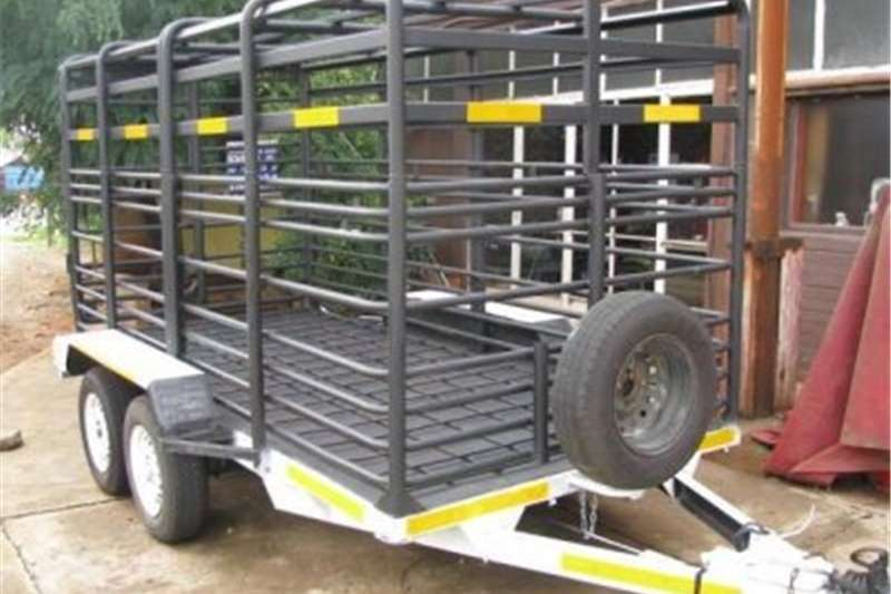 Livestock trailers 4 & 5m Cattle Trailer View With Ramp Down 4 and 5m Agricultural trailers