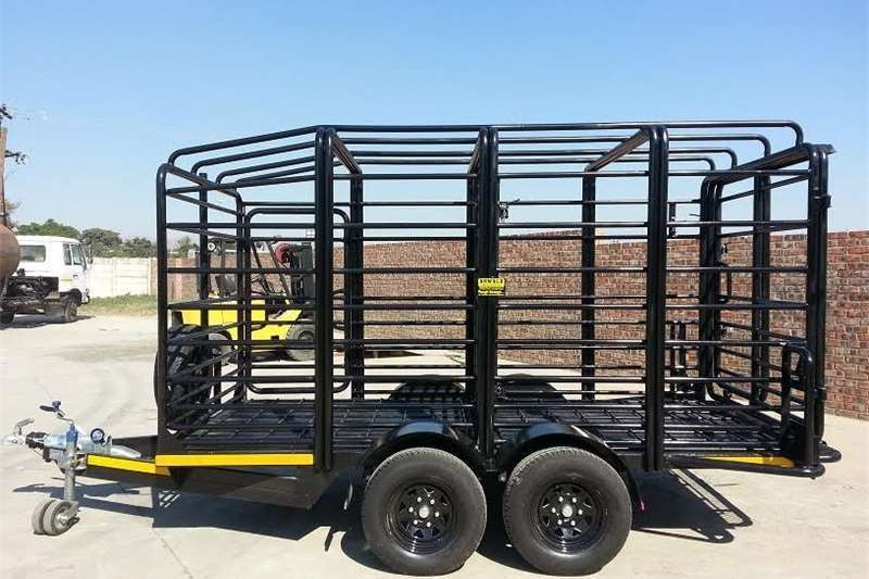 Livestock trailers 4m Cattle Trailer / Livestock Trailers 3.5 ton Agricultural trailers