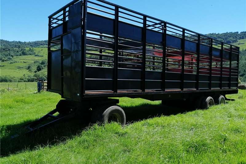 Agricultural trailers Livestock trailers BRIAB 3 Axle Drawbar Cattle + Sheep Trailer   R209