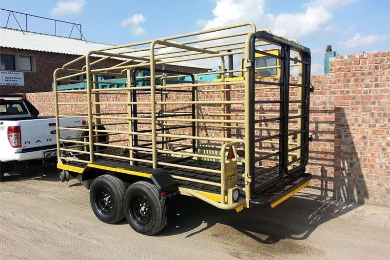 Livestock trailers Round Barred Cattle Trailer 3.5 ton . Livestock Tr Agricultural trailers
