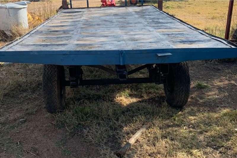 Mass side trailers 5.0m Platbak Laespoed Sleepwa Agricultural trailers
