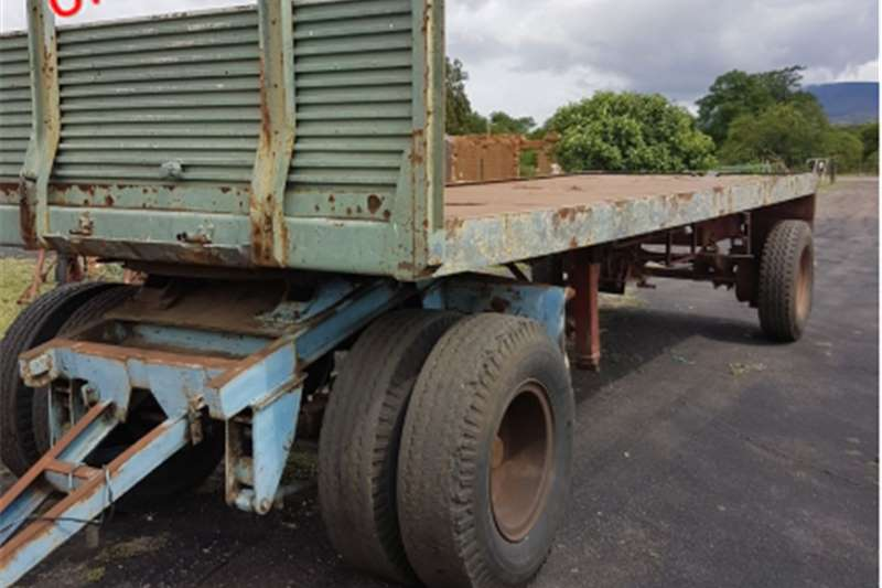 Agricultural trailers Other agricultural trailers S2799 Green Unknown Make Double Axle Flatbed Farm
