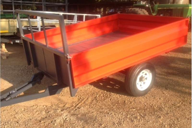 Agricultural trailers Small trailers S3102 Red Verrigter 2 Ton Farm Trailer / 2 Ton Pla