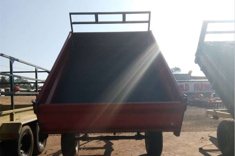 Agricultural trailers Tipper trailer S3101 Red Verrigter 5 Ton Tip Trailer / 5 Ton Tip