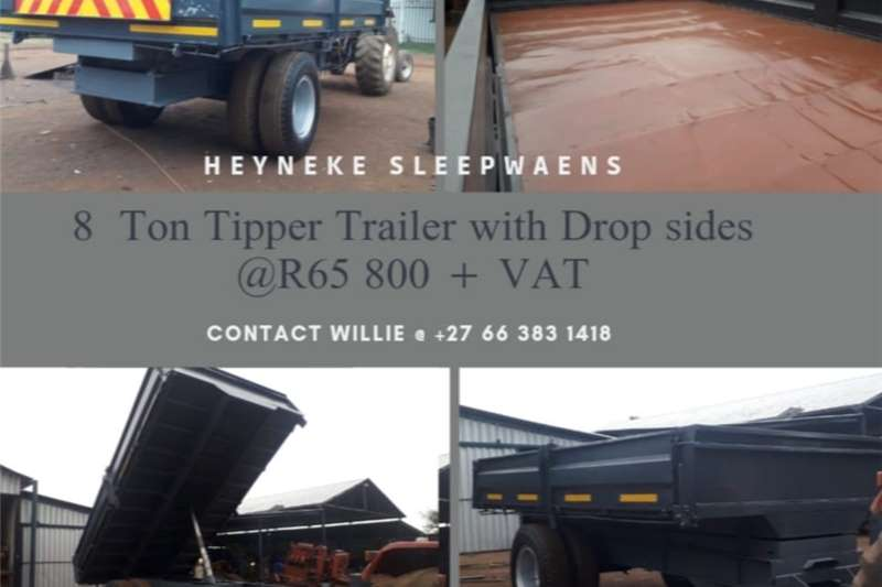 Tipper trailers 8 TIPPER TRAILER WITH DROPSIDES Agricultural trailers