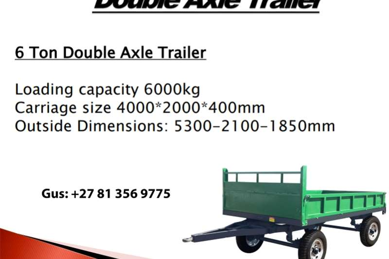 Tipper trailers Double Axle Trailer Agricultural trailers