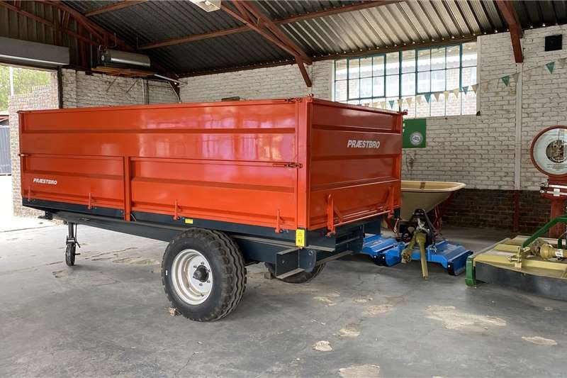 Tipper trailers Imported Presbro 8 Ton Trailer Agricultural trailers