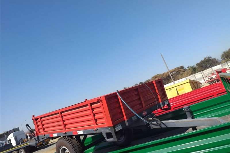 Agricultural trailers Tipper trailers New 2 Ton single axle tipper trailer