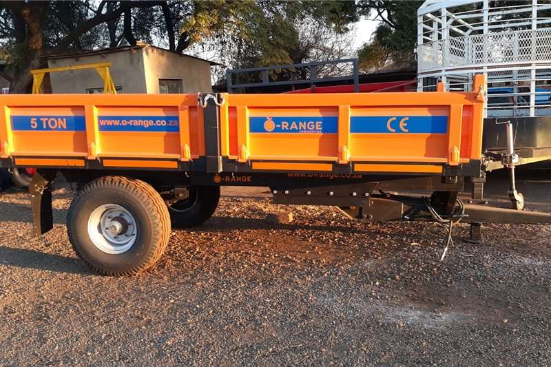 Tipper trailers Orange 5 Ton Tipper New Trailer Agricultural trailers