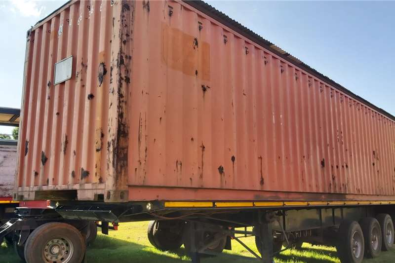 Agricultural trailers Tri Axle container Flat Deck Semi Trailer