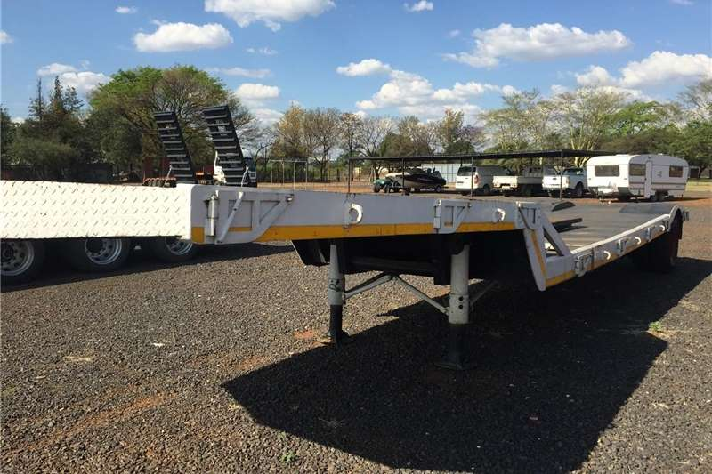 Agricultural trailers U Make Single Axle Lowbed Pre Owned Trailer
