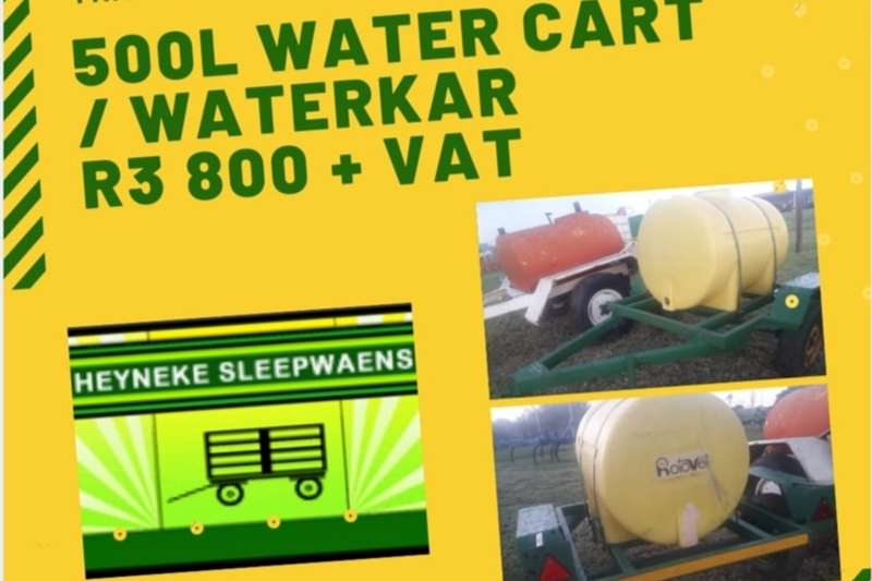 Water bowsers 500L WATER CART / WATERKAR Agricultural trailers