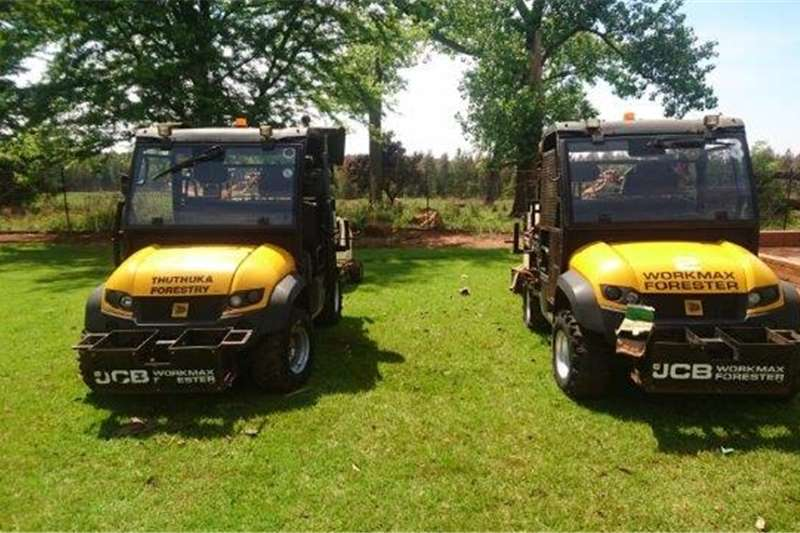 Four wheel drive 2 x JCB Workmax Forester 800D with Trailers ATVs