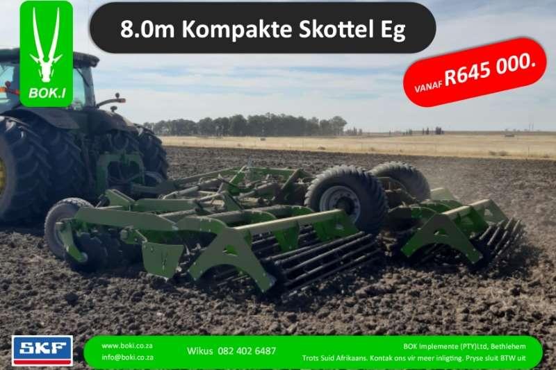 Bok.I Cultivators Harrows 8.0m Kompakte Hoë Spoed Sny Eë 2019